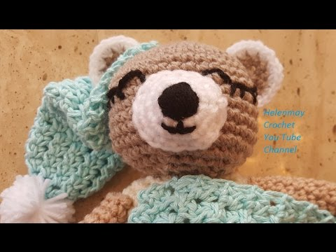 Sleepy Bear Amigurumi Free Crochet Pattern - Cool Creativities | 360x480