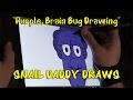 Purple Brain Cartoon Bug Time-Lapse - Snail Daddy Draws