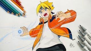 How to Draw Boruto Rasengan - Step by Step (Tutorial) - Naruto The Movie