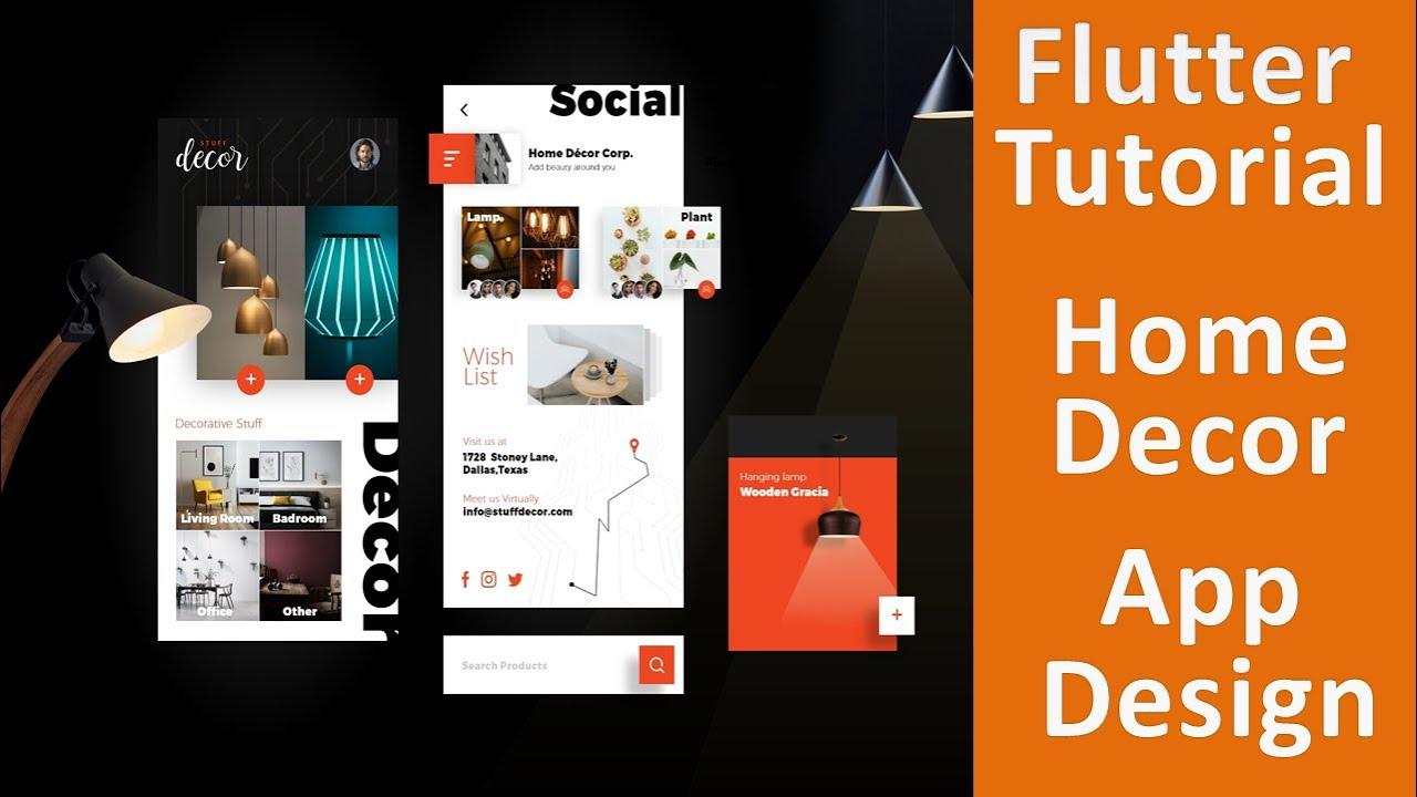 Flutter Beautiful Home Decoration App UI Design   Flutter Agency   Speed Code
