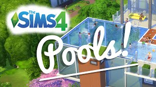 The Sims 4 — Pools— Cas, Build And Gameplay