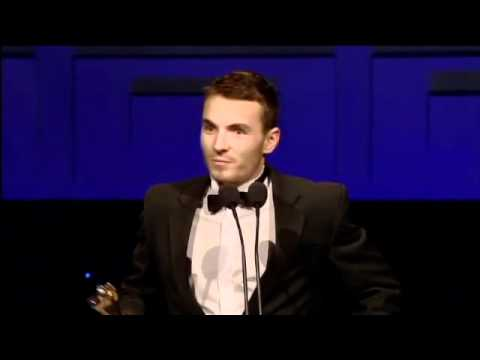 Martin McCann, IFTA Winner 2011, Best Actor in Film, presented by Kim Cattrall