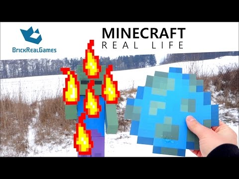 Minecraft Real Life - I spawn Zombie with Spawn Egg! - BrickRealGames
