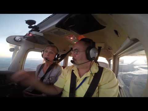 C172 | KVDF to KVRB | Night Flight | Bday Flight | ATC Audio