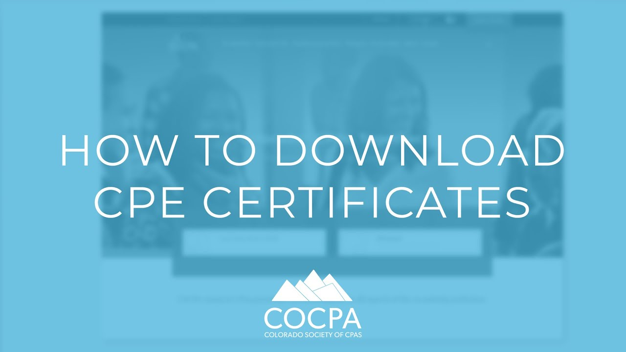 CPE FAQs & Policies   Colorado Society of Certified Public