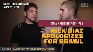 MMA Fighting Archives: Nick Diaz Apologizes For Infamous Nashville Strikeforce Brawl
