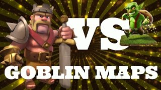BARB KING VS GOBLIN MAPS #2 | WIZARDS! | Clash Of Clans
