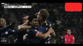 Heracles vs psv 0-4 Resumen hightlights eredivise jornada 16 Goles resumen 2018
