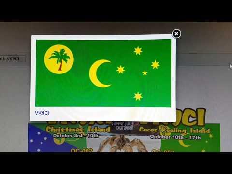 VK9CI, Cocos-Keeling Is.  AUSTRALIA, 7MHz, CW, Worked by HL2WA