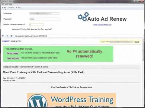 Craigslist auto ad renew - CL ADS