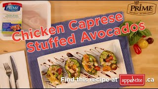 Chicken Caprese Stuffed Avocados