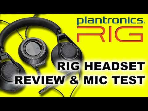 plantronics rig gaming headset unboxing mic test and r. Black Bedroom Furniture Sets. Home Design Ideas
