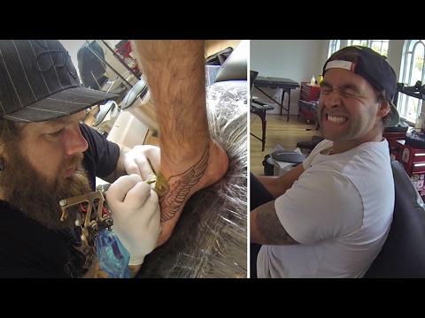 FOOT TATTOO BY MARK SENDER