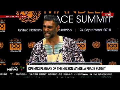 Kumi Naidoo speaks at the Nelson Mandela Peace summit, UNGA