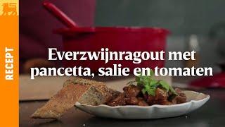 Everzwijnragout met pancetta