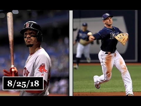 Boston Red Sox vs Tampa Bay Rays Highlights || August 25, 2018