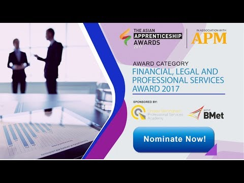 Nominate Financial, Legal and Professional Services Award 2017