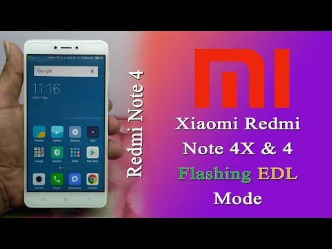Flash Xiaomi Redmi Note 4x & 4 Snapdragon in EDL mode. Lock Bootloader