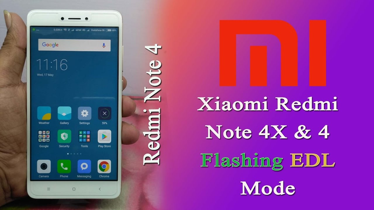Flash Xiaomi Redmi Note 4x 4 Snapdragon In Edl Mode Lock Bootloader
