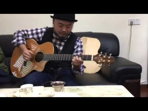 Best Chinese Aiersi Master Double Top Acoustic Guitar Demo