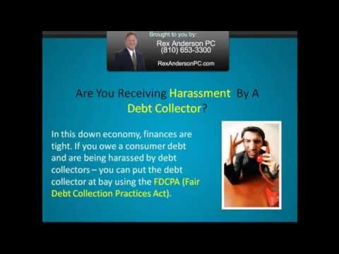 Fair Debt Attorneys Michigan - Rex Anderson Speaks On Fair Debt Collection Practices Act