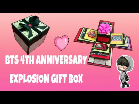 Explosion Gift Box for 4 Years with BTS (방탄소년단) made by an ARMY !!!