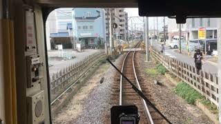 四日市あすなろう鉄道 内部線 あすなろう四日市~赤堀 前面展望 Yokkaichi Asunarou Railway, Asunarou Yokkaichi to Akahori (2019.2)