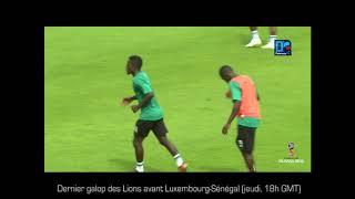 Dernier galop des Lions avant Luxembourg-Sénégal (jeudi, 18h GMT)
