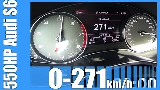 audi s6 4 0 tfsi 550 hp brutal 7000 rpm launch control 0 271 km h   rs6 killer