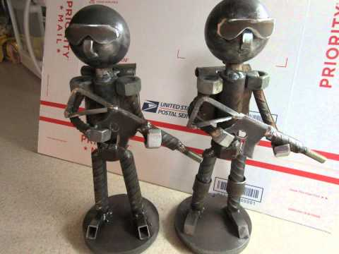 Scrap Metal Art Figures Slideshow By JPLAIASTEELART