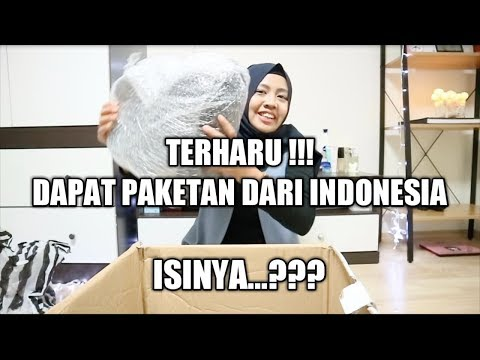 BONGKAR PAKETAN DARI INDONESIA   TERNYATA ISINYA ... ???