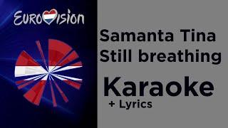 Samanta Tina - Still breathing (Karaoke) Latvia 🇱🇻 Eurovision 2020