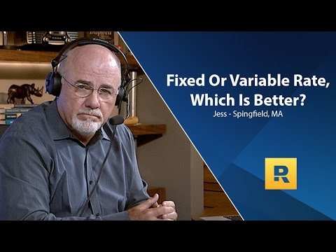Fixed or Variable Rate - Which Is Better?