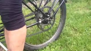 Vélo électrique avec alternateur de voiture