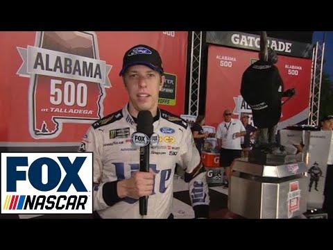 Brad Keselowski Post-Race Interview | 2017 TALLADEGA | NASCAR VICTORY LANE