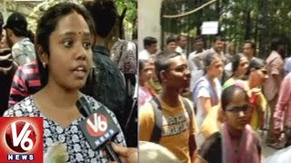 Intermediate Students Protest Along With Parents In Front Of TS Inter Board Over Results Issue | V6