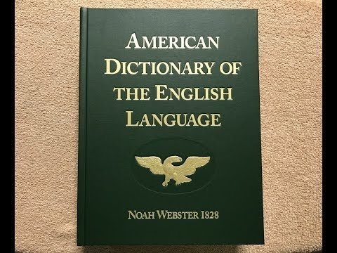 Unboxing The Webster 1828 Dictionary