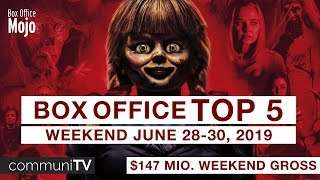 TOP 5 Box Office US Weekend June 28-30  Charts 2019