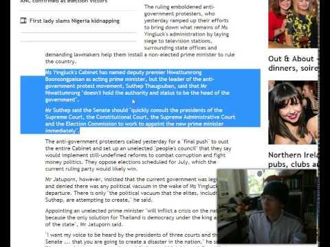สงครามกลางเมืองในประเทศไทย!! สำนักข่าว Belfast Telegraph