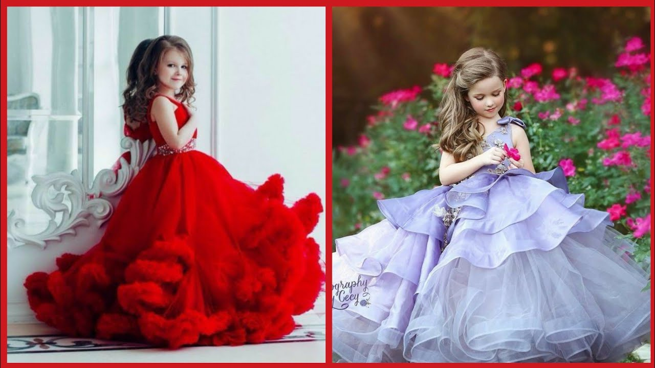 Beautiful princess dress Designs For Baby girls// Long gown Maxi dress