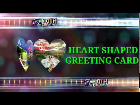 Heart shaped greeting card | photo greeting card | suprise gift for all occasions
