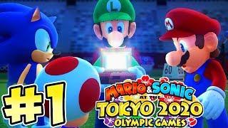 Mario & Sonic Tokyo 2020 Olympic Games !! Walkthrough # 1 ᴴᴰ