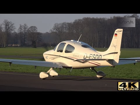 [4K] Plane Spotting at Flugplatz Münster-Telgte 14-01-2018 : Beautifull weather and lots of aircraft