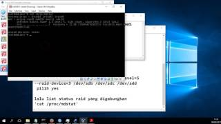 Konfigurasi RAID 5 menggunakan 3 hdd dengan mdadm