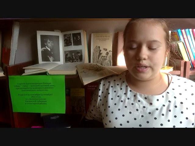 Изображение предпросмотра прочтения – МаринаСуханова читает произведение «Поёт зима— аукает…» С.А.Есенина