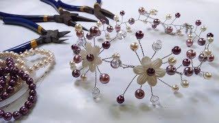 Cara Membuat Crown mutiara | DIY Bridal Hair Vine Handmade Tutorial
