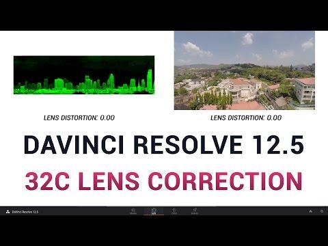 DaVinci Resolve 12.5 - 32c Lens Correction