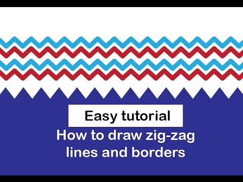 Draw zig zag lines and borders in illustrator [Easy]