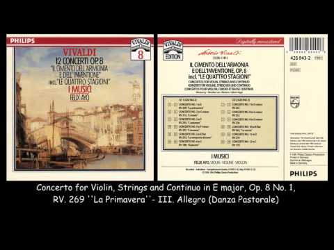 Vivaldi - 12 Concertos Op. 8 - I Musici - Felix Ayo - 1959 - 1961