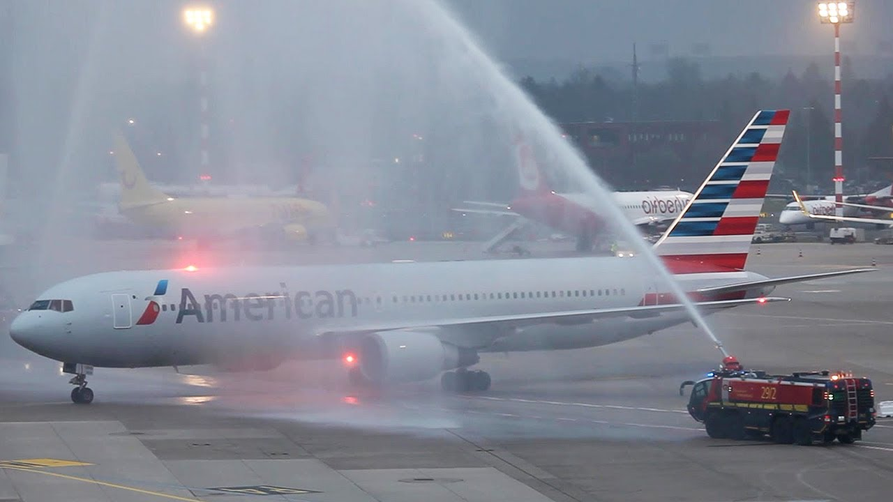 First American Airlines Boeing 767 Flight To D 252 Sseldorf